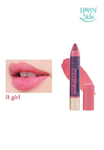 Happy Skin pink Shut Up & Kiss Me Moisturizing Matte Lippie in It Girl HA428BE10XNHPH_1