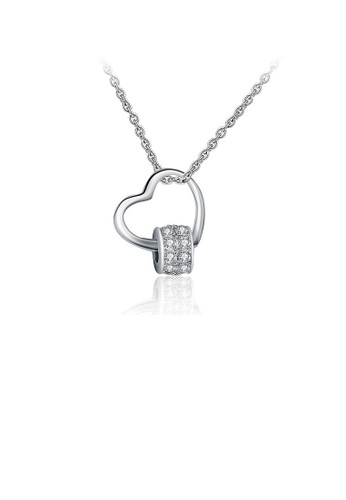 Glamorousky white 925 Sterling Silver Valentine Heart Pendant with Austrian Element Crystal and Necklace AD49EAC5571411GS_1