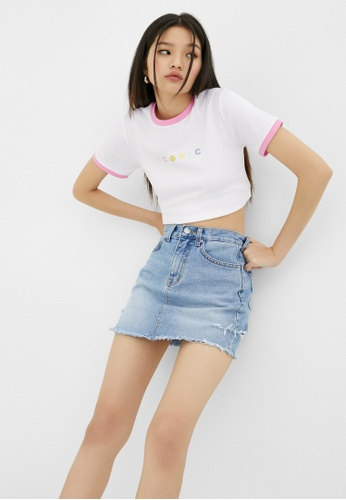 Pomelo white Smiley Iconic Graphic Tee - White F4A65AA9388D36GS_1