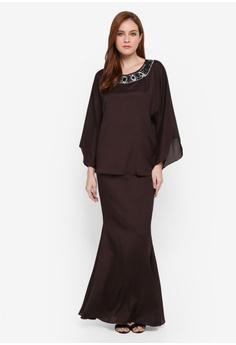feb75da1dd87d Zuco Fashion brown Midi Hi-Low Kedah Kurung 6ABEDAA9D0EC0FGS 1