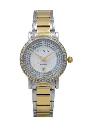 BONIA gold and silver Bonia Jam Tangan Wanita - Silver Gold - Stainless Steel - BNB10285-2112S 06E5DAC586224DGS_1