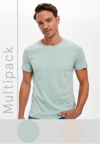 DeFacto multi Man 2 Piece T-Shirt Set 5E115AA363177CGS_1
