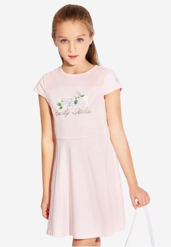 FILA pink FILA KIDS FILA Sicily Italia Logo Dress 6-15yrs B461FKA71246E1GS_1