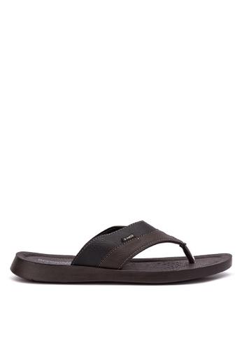 Inblu black and grey Aerowalk by Inblu 7501-Sandals & Flip Flops IN809SH02MWBPH_1