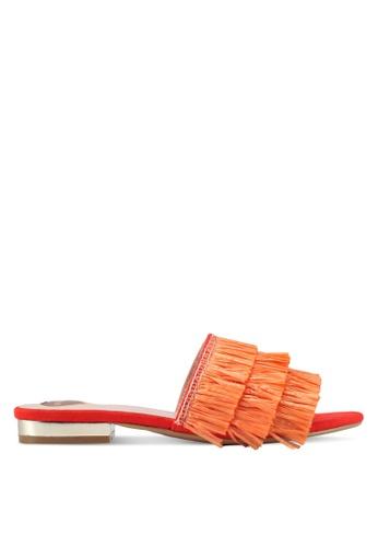 Velvet orange Fringe Sandals F20AASHA20F960GS_1