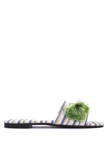 DSNY FOOTWEAR SHOP green Venice Boucle Slides F7FFFSH548708CGS_1