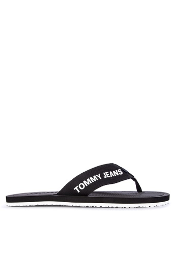 Tommy Hilfiger black Tommy Jeans Moulded Beach Sandals 7ED5BSH0211454GS_1