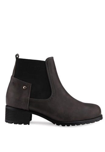 SPUR grey Shapely Chelsea Boots ED55DSH5E98307GS_1