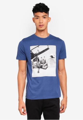 Jack & Jones 海軍藍色 短袖印花T恤 B0A6BAA8111092GS_1