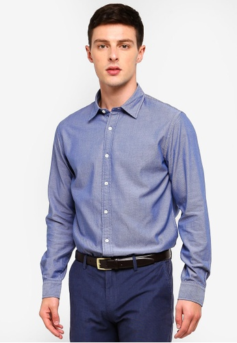 Brooks Brothers 海軍藍色 長袖印花襯衫 85FA5AA4F813D0GS_1