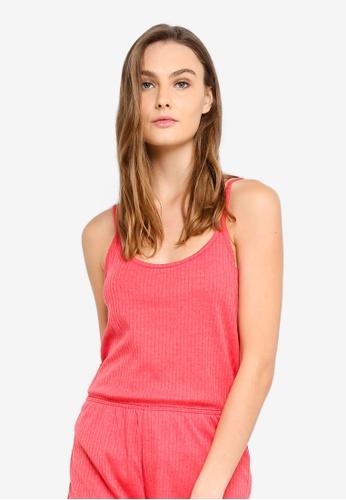 Cotton On Body red Rib Sleep Tank Top F37DEAA577786DGS_1