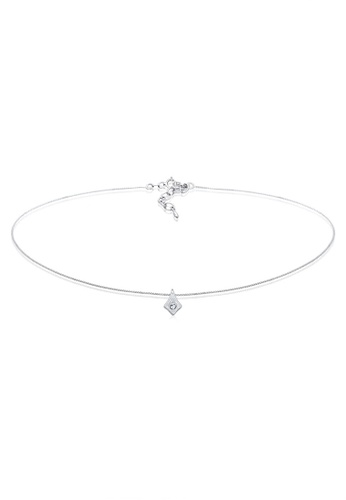 Elli Germany silver Elli Germany Necklace Choker Swarovski Crystals 925 Sterling Silver 2CFA4ACF47CD28GS_1