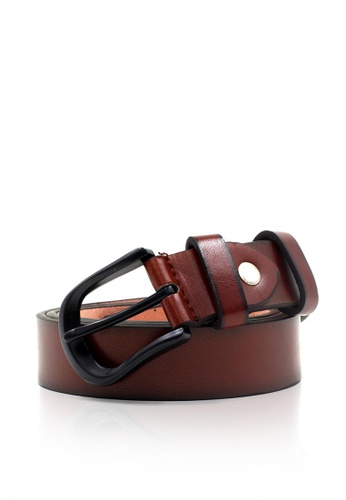 Attraxion Men's and Accessories brown Attraxion Eaton 15 Basic Leather Belt for Men 535B3AC34AC00EGS_1