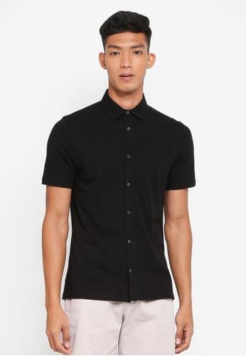 Burton Menswear London 黑色 短袖襯衫 77DD1AAC37EEB0GS_1