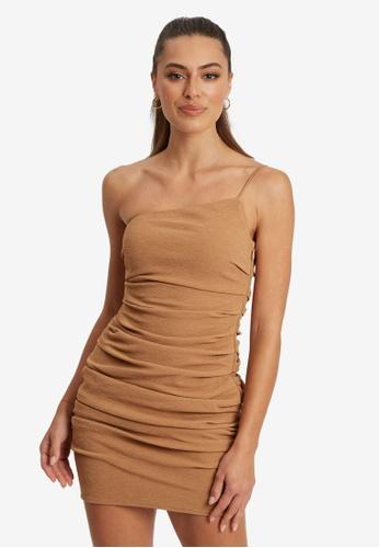 BWLDR brown Cassia Mini Dress F8049AA6D47E4EGS_1