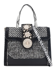 283d77e11ae6 River Island black and multi Jewel Tab Over Tote Bag D701AAC22DC627GS 1