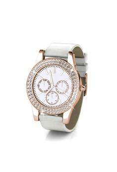 26875ce7f 60% OFF Her Jewellery Sonia Leather Watch (White, Rose Gold) - Embellished  with Crystals from Swarovski® S$ 125.90 NOW S$ 49.95 Sizes One Size