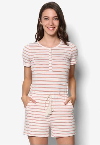Short Sleeve Stripe Playsuiesprit hk outlett, 韓系時尚, 梳妝