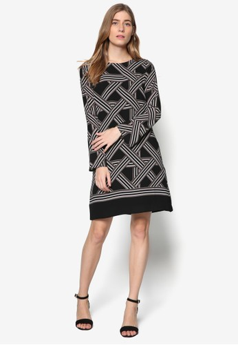 印花直筒式洋裝esprit hk分店, 服飾, 洋裝