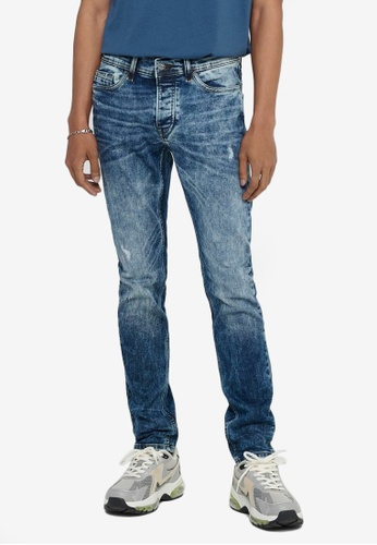 Only & Sons blue Loom Life Card Slim Jeans 1079AAAFED4C33GS_1