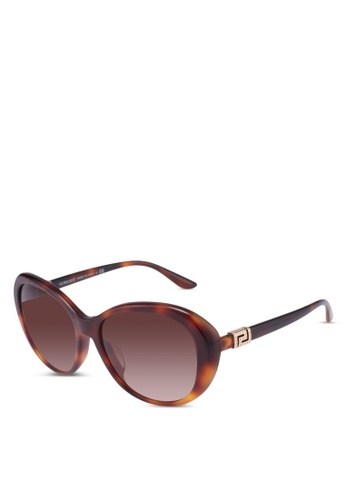 Versace brown Versace Pop Chic Greca Stras Sunglasses DEF63GL22F03B0GS_1