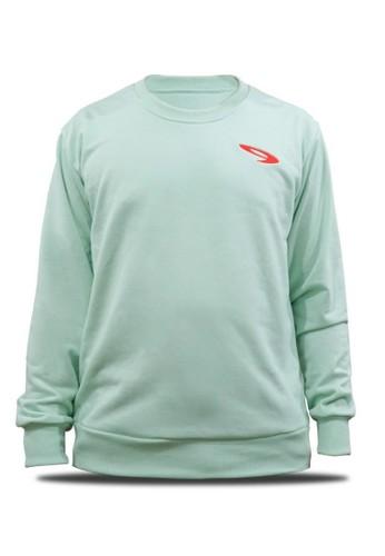 910 green 910 Nineten Sweater Suno Hijau Muda - Soft Green 703B8AA6DE96EBGS_1