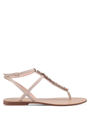 ALDO beige Whitwell Flat Sandals A12F9SHCE1266AGS 1
