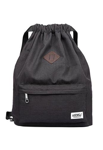All Things New black Kaukko K1031 Drawstring Backpack A9474ACC822D60GS_1