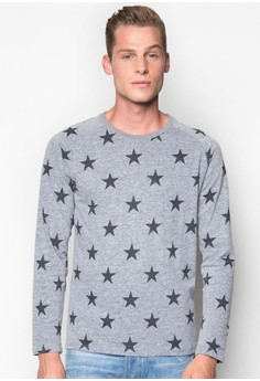 Long Sleeves Printed Crew Neck T-Shirt