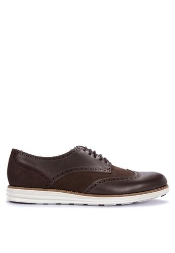 G&G brown Comfort Oxford Shoes 5E901SHBCE8230GS_1