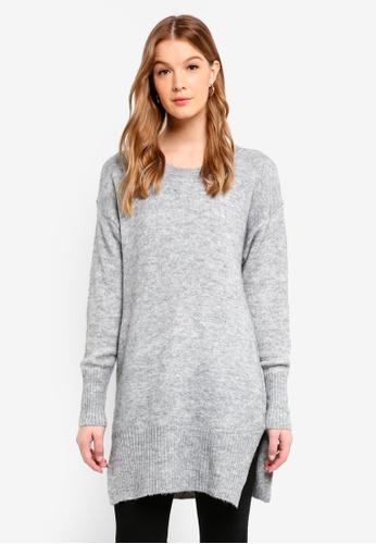 Buy ICHI Amara Long Knit Pullover  5d9e1a29f