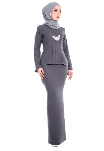 SARIMA black and red Kebaya Muslimah Fashion Dark Grey AE0B5AA40E8B56GS_1
