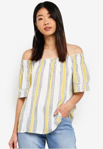 681a41eb454f Shop LC Waikiki Yellow off shoulder Blouse Online on ZALORA Philippines