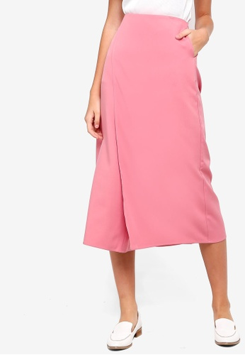 Something Borrowed pink Flare Culottes 63425AAD08A35DGS_1