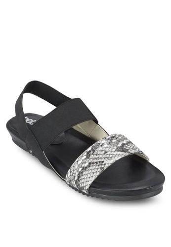 拼色繞踝涼鞋esprit香港分店, 女鞋, 涼鞋