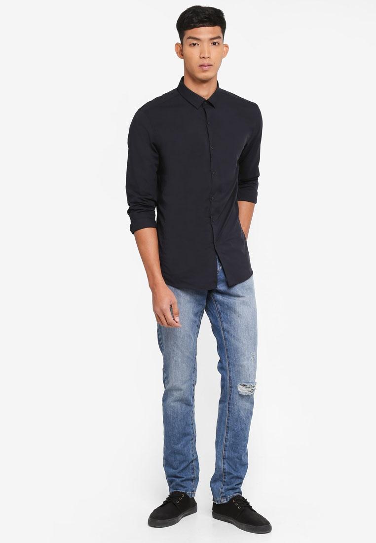 Jeans Ripped Denim Straight Dark Fit OVS URqqw6FpB