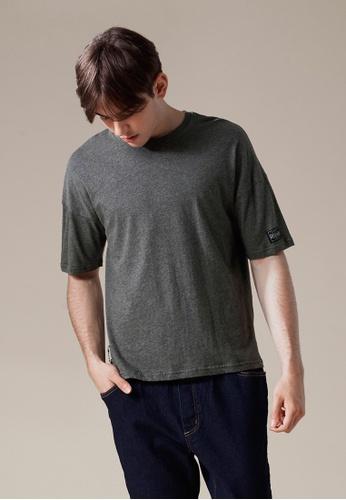Life8 grey Cotton Elbow Length Crew Neck Tee-03868-Grey LI283AA0FFQ1SG_1
