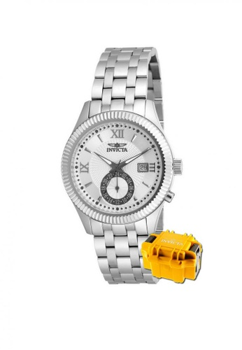 INVICTA silver Invicta Specialty Men 40mm Case Stainless Steel Strap Dial Quartz Watch 18099 w/ Yellow Impact Case 92AB1AC852F7BBGS_1