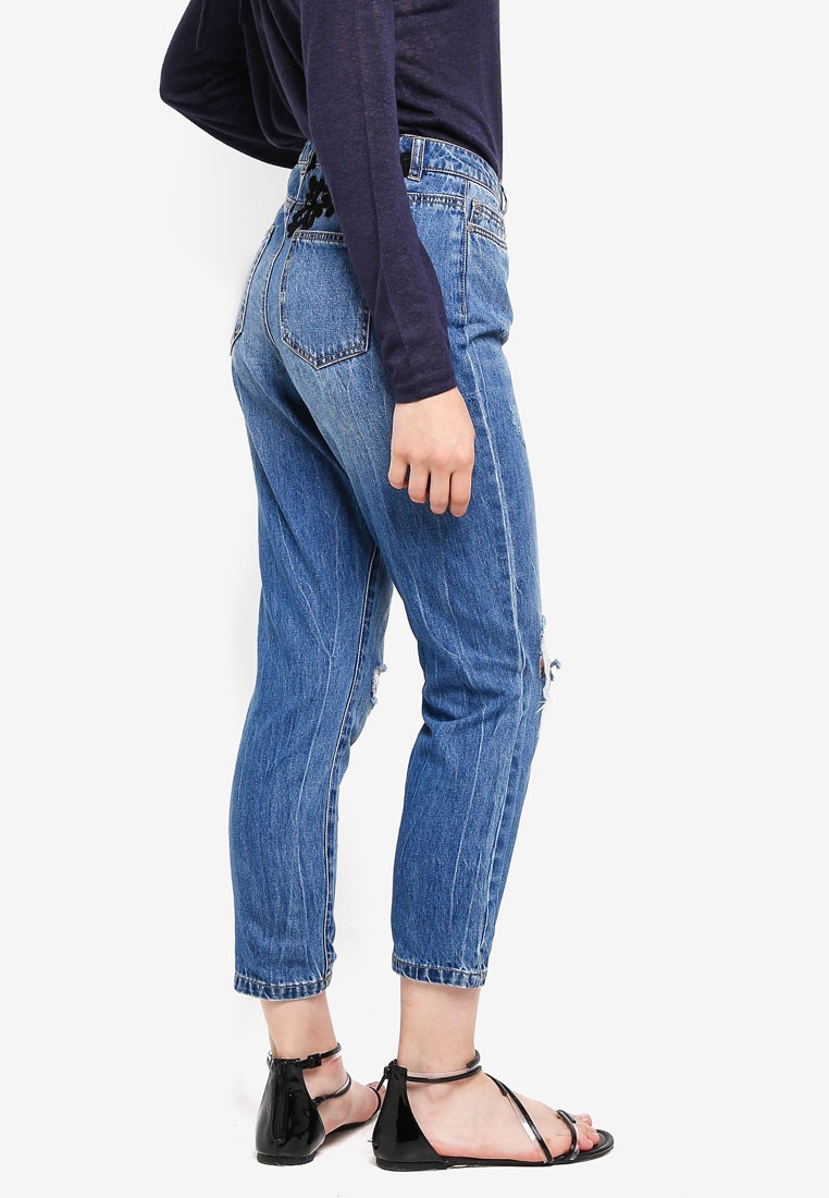 Dark Decorated Tonni Jeans Denim Blue ONLY Boyfriend w7Ivv0