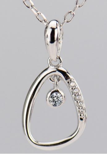 LYCKA silver LFF1230-LYCKA-S925 Silver White Zircon Royal Crown Necklace -Silver LY529AC0HACESG_1