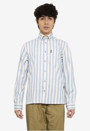 Ben Sherman blue Candy Striped Shirt 5A9A7AAC95F4C4GS_1