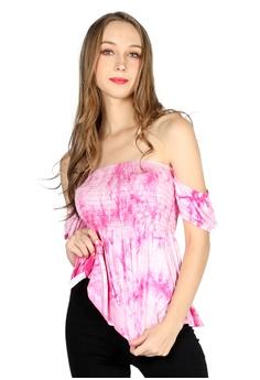 96c3c5f6 London Rag pink Pink Off Shoulder Top B66A7AAC42E5DAGS_1
