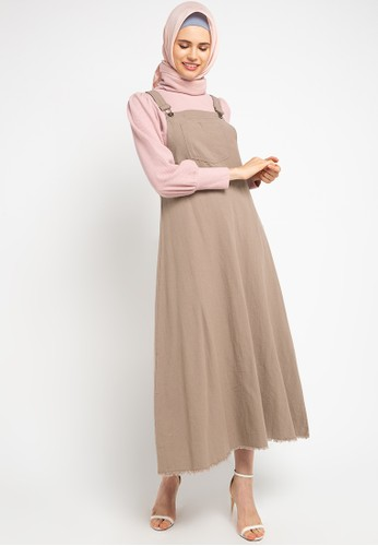 Exit brown Saira Overall Rami With Button 83113AA28850BAGS_1