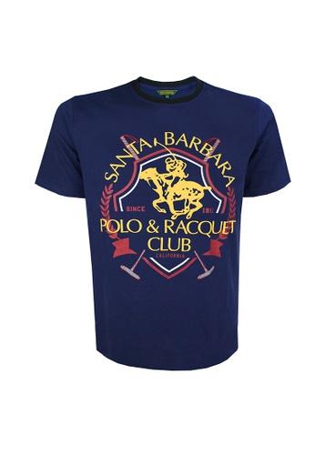 Santa Barbara Polo & Racquet Club green and blue SBPRC Regular Graphic T-Shirt FC5EBAAB22C63BGS_1