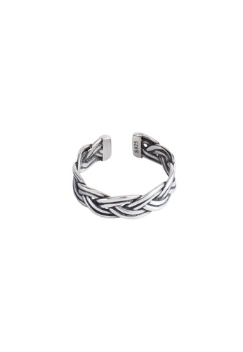A-Excellence silver Premium S925 Sliver Twine Ring 4740AAC7E3EECAGS_1