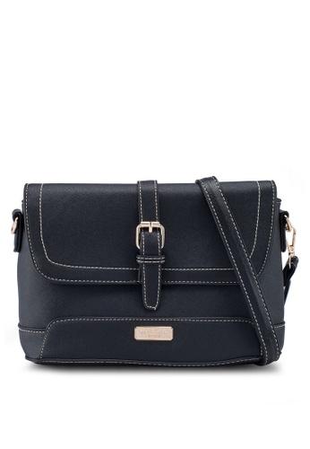 Unisa black Saffiano 2-Way Usage Sling Bag 16964AC524081FGS_1