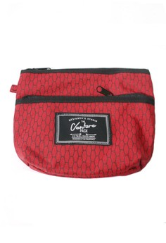 Red Honeycomb Travel Pouch