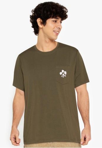 ZALORA BASICS green Monstera T-Shirt 39D57AA266E62FGS_1
