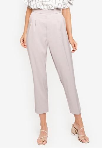 GLOBAL WORK grey Woven Tapered Pants 2C4C7AA237EEB0GS_1