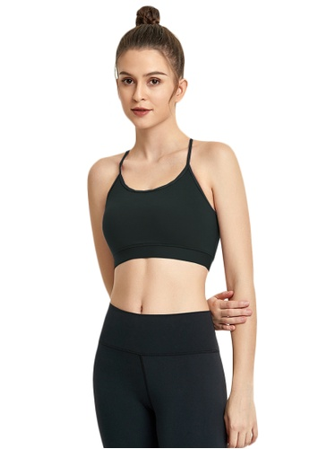 B-Code black ZWG7019Lady Quick Drying Running Fitness Yoga Sports Bra -Black 47BCAUS2A04B0BGS_1